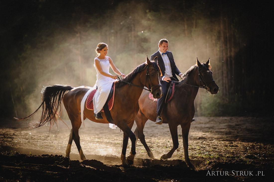 Ania i Piotr   konny plener Kępno