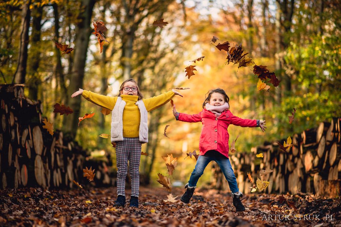 Basia i Michasia | jesienna sesja dziecięca